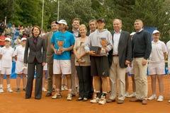 Poznan Porshe opent 2009 - winnaars met sponsors Stock Foto