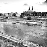 poznan Regard artistique en noir et blanc Image libre de droits