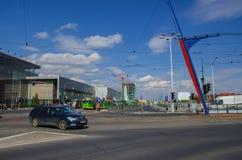 Poznan - Roosevelt gata arkivfoto