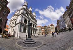 Poznan Town Hall and Old Town Royalty Free Stock Photos