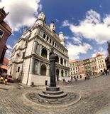 Poznan Town Hall and Old Town Royalty Free Stock Photo