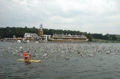 Poznan Triathlon Royaltyfri Bild