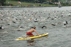 Poznan Triathlon Royaltyfri Foto