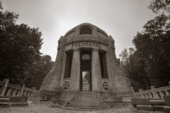 Poznanski Grave at the Jewish cemetery in Lodz, Poland Stock Photos