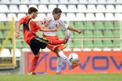 Pozo Almonte - FC Makedonija κάτω από το παιχνίδι ποδοσφαίρου 16 Στοκ Εικόνες
