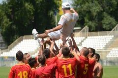 Pozo Almonte - FC Makedonija bajo juego de fútbol 16 Fotos de archivo libres de regalías