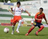 Pozo Almonte - FC Makedonija onder 16 voetbalspel Royalty-vrije Stock Foto's