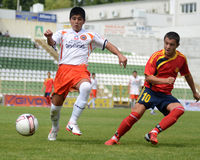 Pozo Almonte - FC Makedonija under 16 soccer game Royalty Free Stock Photos