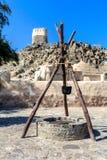 Pozo antiguo del árabe cerca de la mezquita Al Bidyah Imágenes de archivo libres de regalías