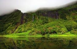 Pozo DA Alagoinha sur l'île de Flores Image libre de droits