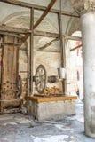 Pozo de drenaje del marco de madera Imagen de archivo libre de regalías
