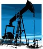 Pozo de petróleo 1 ilustración del vector