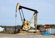Pozo de petróleo de Tejas fotografía de archivo
