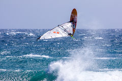 风帆冲浪在Gran Canaria。 图库摄影
