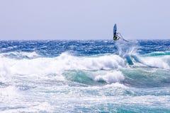 风帆冲浪在Gran Canaria。 库存照片