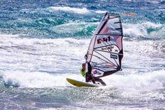 Windsurfing на Gran Canaria. стоковая фотография
