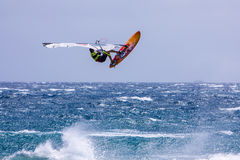 Windsurfing on Gran Canaria. Royalty Free Stock Photography