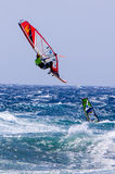 Windsurfing on Gran Canaria. Royalty Free Stock Image