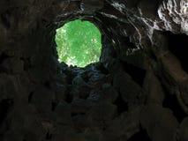 Pozo masónico de la iniciación en Quinta de Regaleira fotografía de archivo