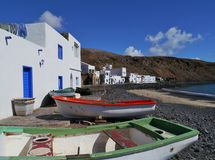 Pozo Negro a fishermen village on Fuerteventura Stock Photos