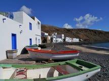 Pozo-Schwarze ein Fischerdorf auf Fuerteventura Stockfotos