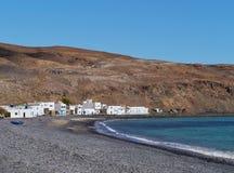 Pozo-Schwarze ein Fischerdorf auf Fuerteventura Stockfoto