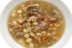 Pozole, cocina mexicana Imagenes de archivo