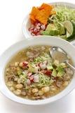 Pozole, cocina mexicana Foto de archivo