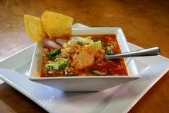 Pozole Rojo Mexican Soup Fotografía de archivo libre de regalías