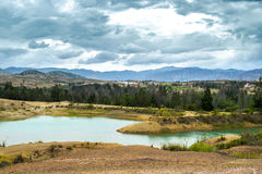 Pozos-azules parken gefunden in Boyaca, Kolumbien Lizenzfreies Stockfoto