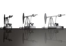 Pozos de petróleo Imagenes de archivo