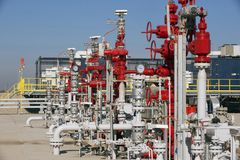 pozos de petróleo Imagen de archivo