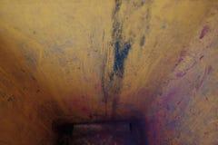 Pozostałościowy barwiony toner śmieciarski kosz zdjęcia stock