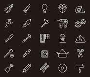 pozostałe symbole cieśli hydraulików narzędzi pracowników Obrazy Royalty Free
