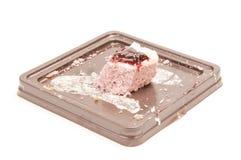 Pozostawiony tort obrazy stock