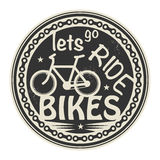 Pozwalać iść przejażdżka rowery ilustracji