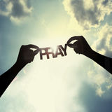 Pozwalać ono modli się wpólnie, Fotografia Royalty Free