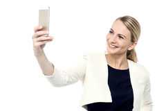 Pozwala my brać selfie! Zdjęcie Royalty Free