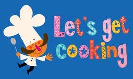 Pozwala my dostawać kucharstwo ilustracji