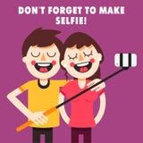 Pozwala my robić selfie! Obrazy Royalty Free
