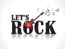 Pozwala rockowego tło z gitarą Fotografia Stock