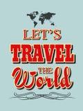 Pozwala ` s podróż światowa ilustracja Zdjęcia Stock
