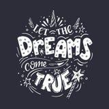 Pozwala sen b&w ilustracja wektor