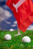 Pozwala sztukę round golf! Obrazy Stock