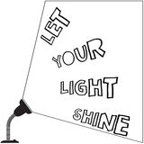 Pozwala Twój Lekką połysk lampę Fotografia Royalty Free