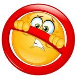 pozwolić emoticon nie Obrazy Stock