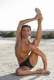 pozy męski joga Zdjęcia Royalty Free