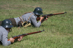 pozycje obrony żołnierze x obrazy royalty free