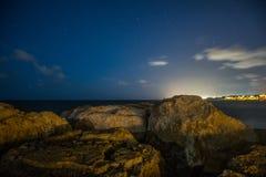 pozyskiwania ilustracyjny błyskawica nocne niebo Zdjęcia Royalty Free