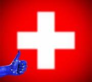 Pozytywna postawa Europejski zjednoczenie dla Szwajcaria royalty ilustracja